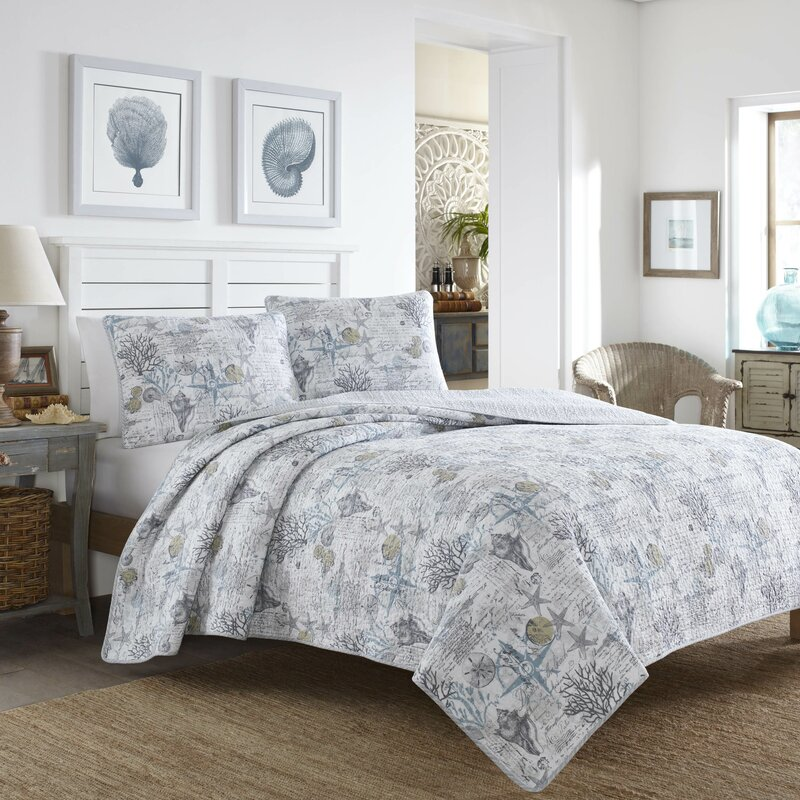 Incroyable Beach Bliss 3 Piece Reversible Quilt Set Tommy Bahama Bedding