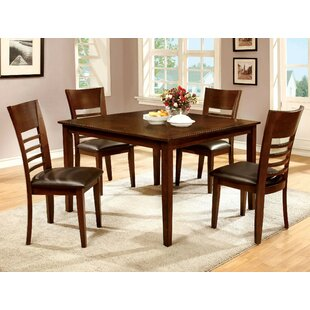 Yoder 5 Piece Solid Wood Dining Set