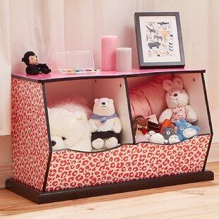 Teamson Kids Fashion Prints Leopard 2 Bin Cubby Storage Toy Box