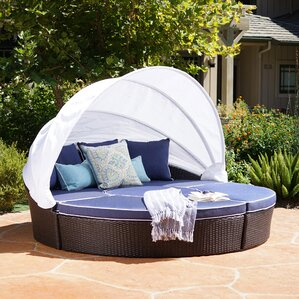 Edmonton Outdoor Daybed with Mattress by Longshore Tides Image