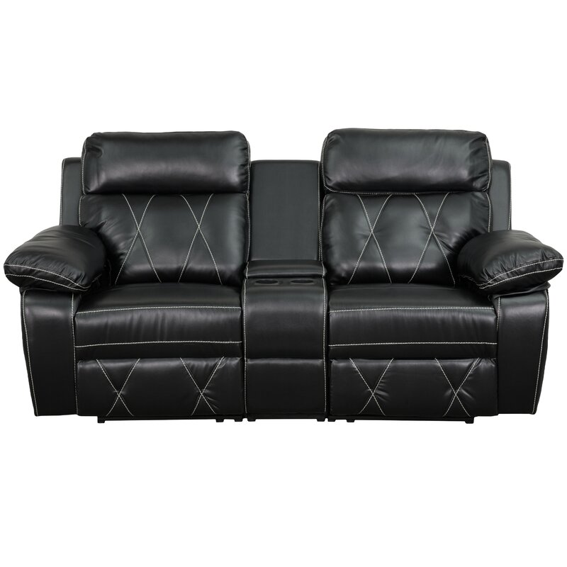 Traditional Leather Home Theater Recliner  sc 1 st  Wayfair & Red Barrel Studio Traditional Leather Home Theater Recliner ... islam-shia.org