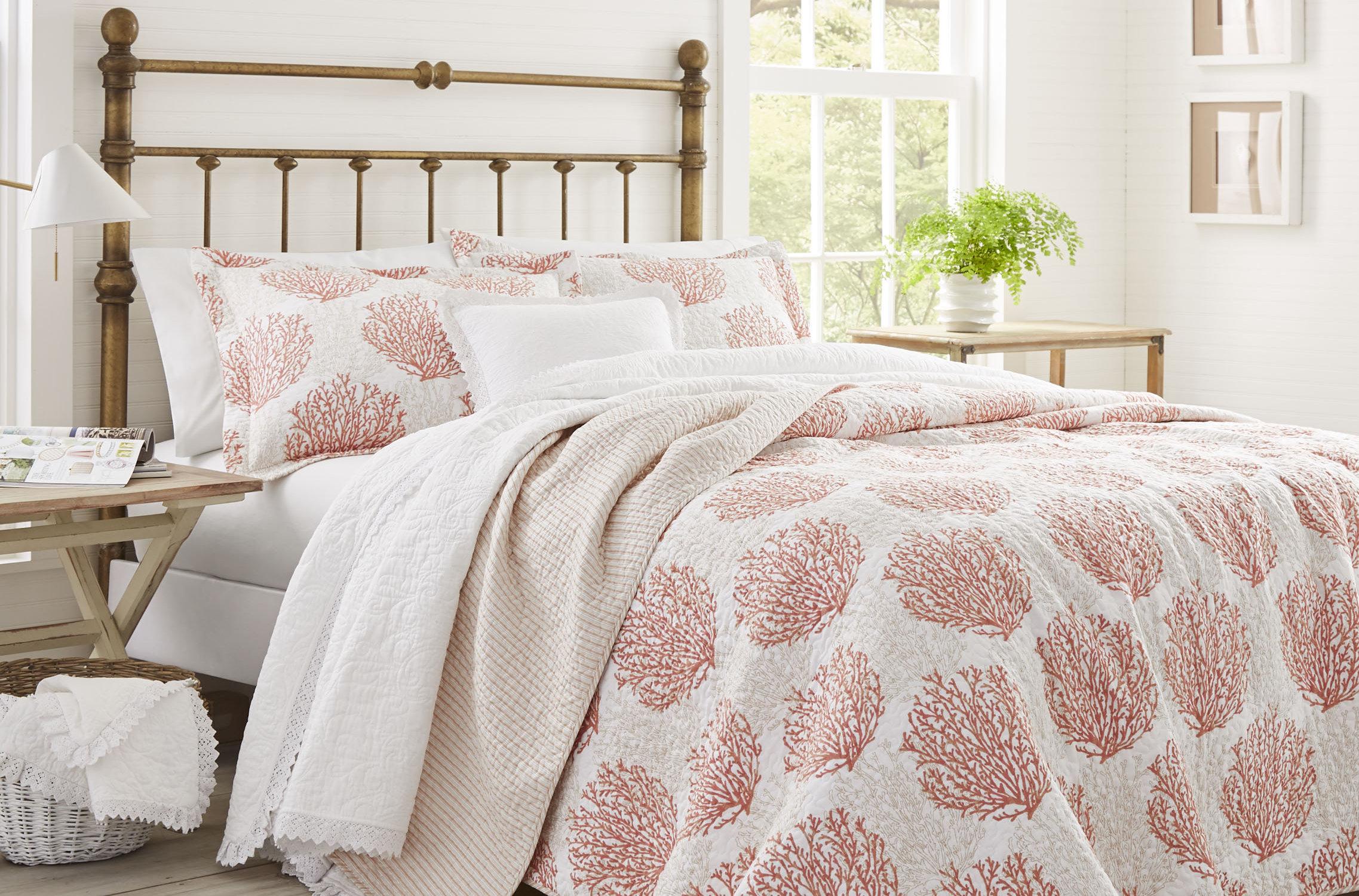 Laura Ashley C Coast Cotton Reversible Quilt Set By Home Reviews Wayfair