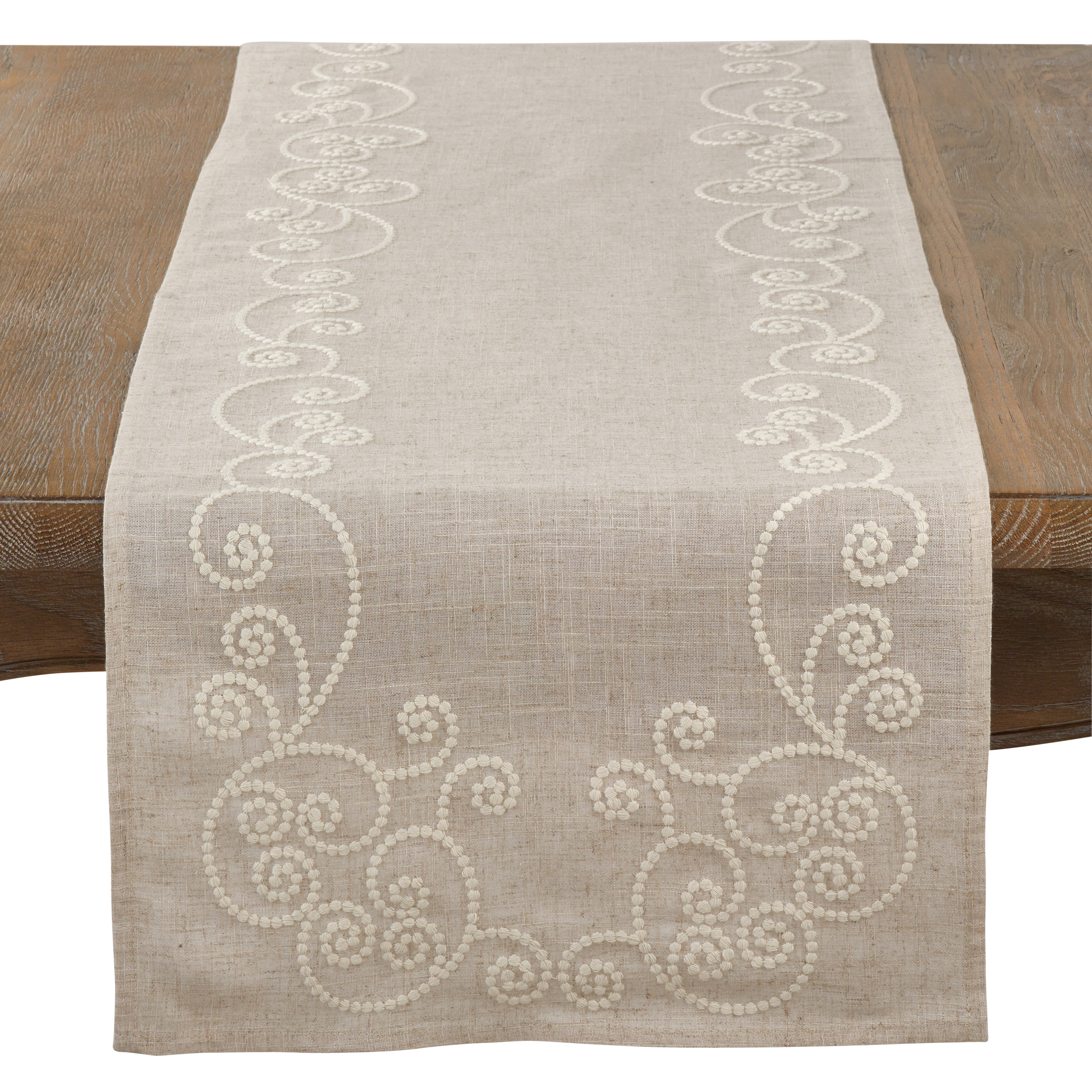Cotton Linen Table Runner 14 X 72inch Merry Christmas Party