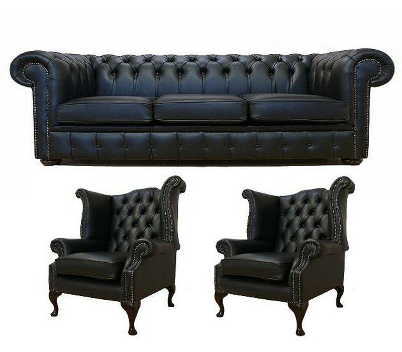 Chiaramonte 3 Piece Leather Sofa Set