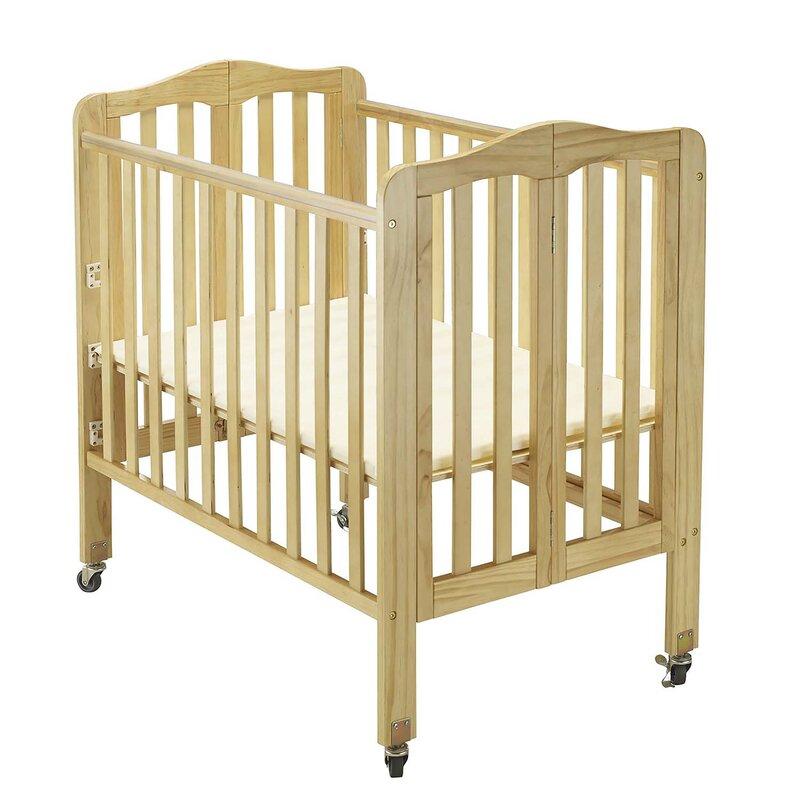Delightful Big Oshi Angela Folding Portable Crib With Mattress