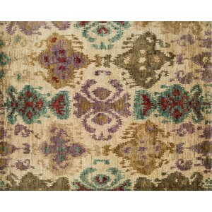 Xavier Hand-Knotted Brown/Beige Area Rug