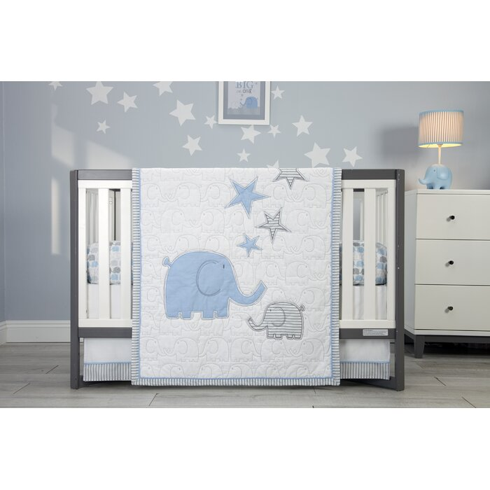 Zutano Elefant Blau baby Crib Musical Mobile Elephant Blue