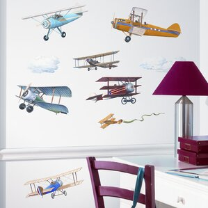 Studio Designs 22 Piece Vintage Planes Wall Decal Part 61