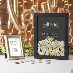 Silver Heart Drop Guest Book