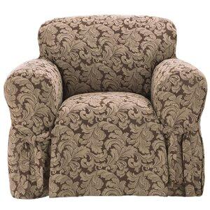 Scroll Classic Box Cushion Armchair Slipcover