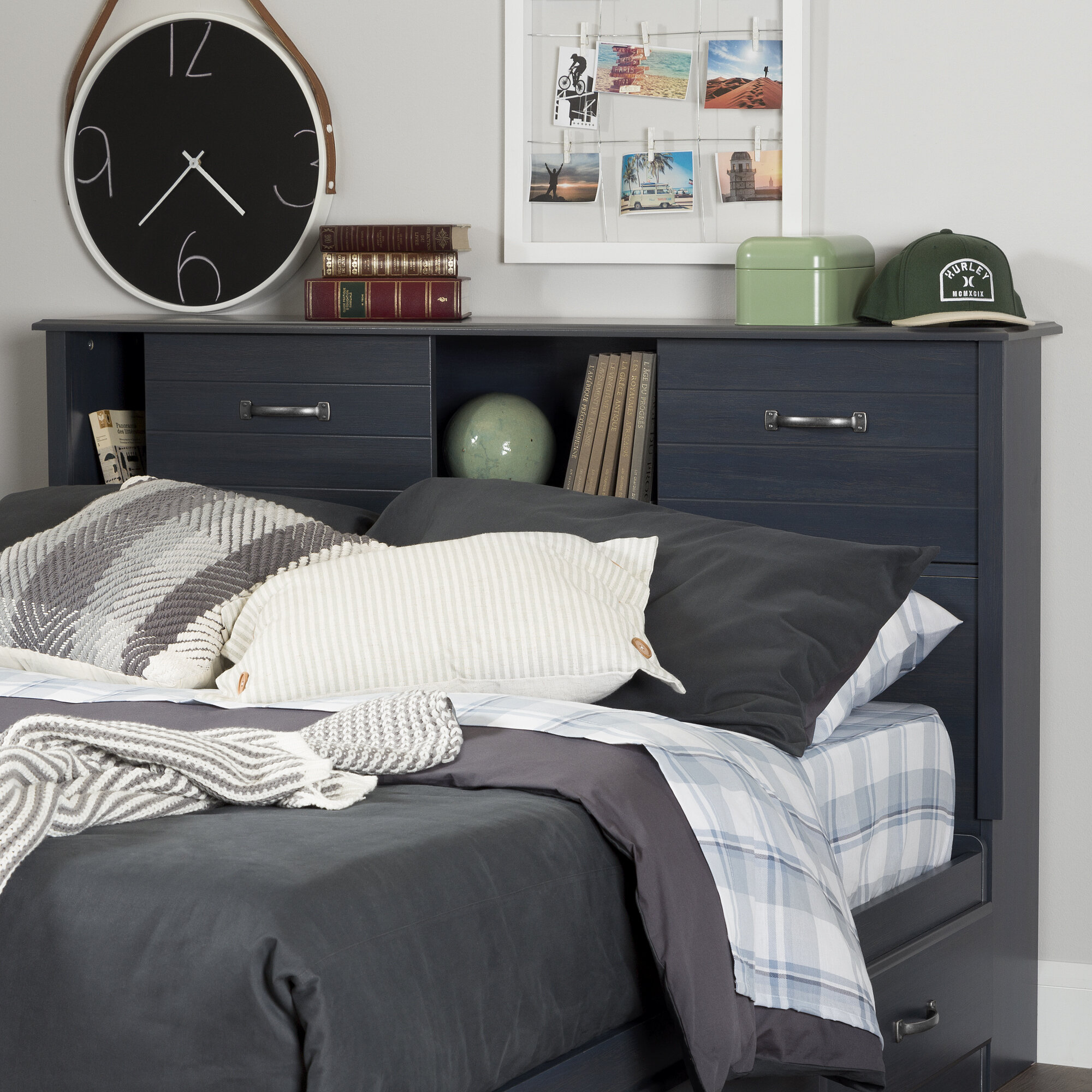 linen white size walmart queen bookshelf bookcase fullqueen of king bed headboard black cubby diy for bookcases full sale beds plans headboards sauder wood throughout twin