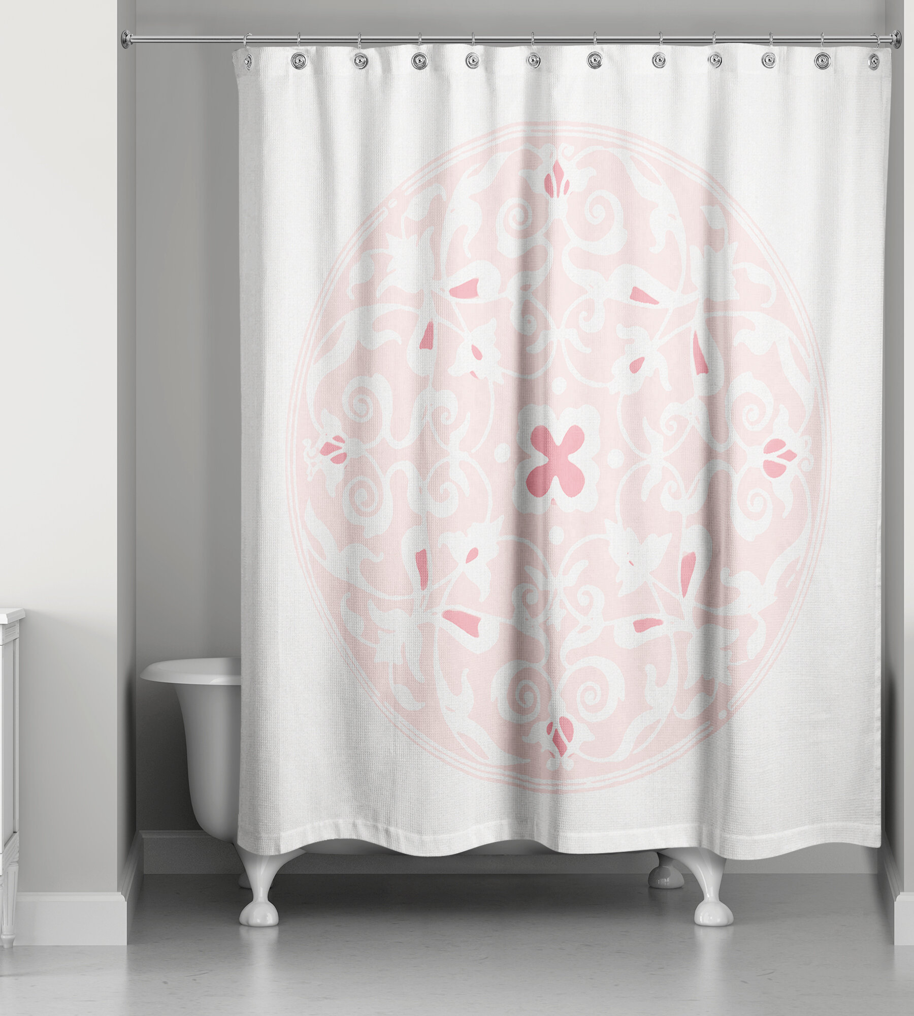 Bungalow Rose Clayborn Circle Shower Curtain | Wayfair