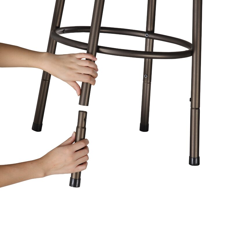 Three Posts Cayman 26 Counter Stool Reviews: Three Posts Frankfort Adjustable Height Swivel Bar Stool