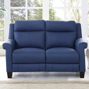 HYDELINE BY AMAX Dolce Leather Reclining Loveseat Image