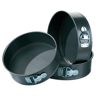 Non-Stick Carbon Steel Spring Form Cake Tin Set (Set of 3) by All Home