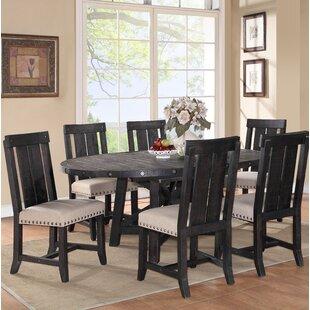 Gaudette 7 Piece Solid Wood Dining Set