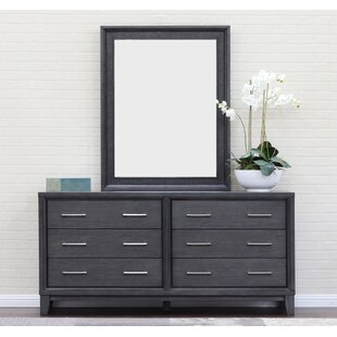 Chelsea 6 Drawer Double Dresser With Mirror