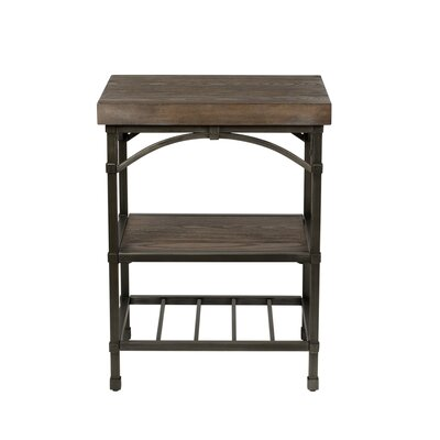 Farmhouse Amp Rustic Brown End Amp Side Tables Birch Lane