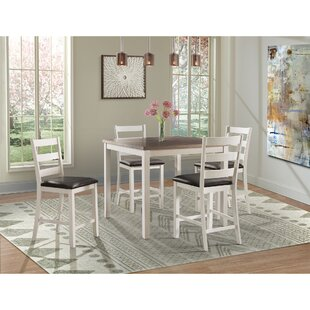Mavis 5 Piece Counter Height Pub Table Set