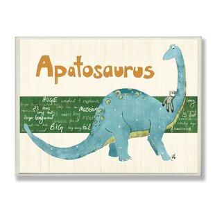 Stella U0027Apatosaurus Dinosauru0027 Graphic Art Wall Plaque