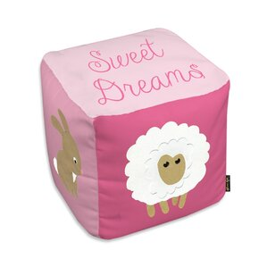 Shelia Sweet Dreams Light Pink Ottoman by Viv + Rae