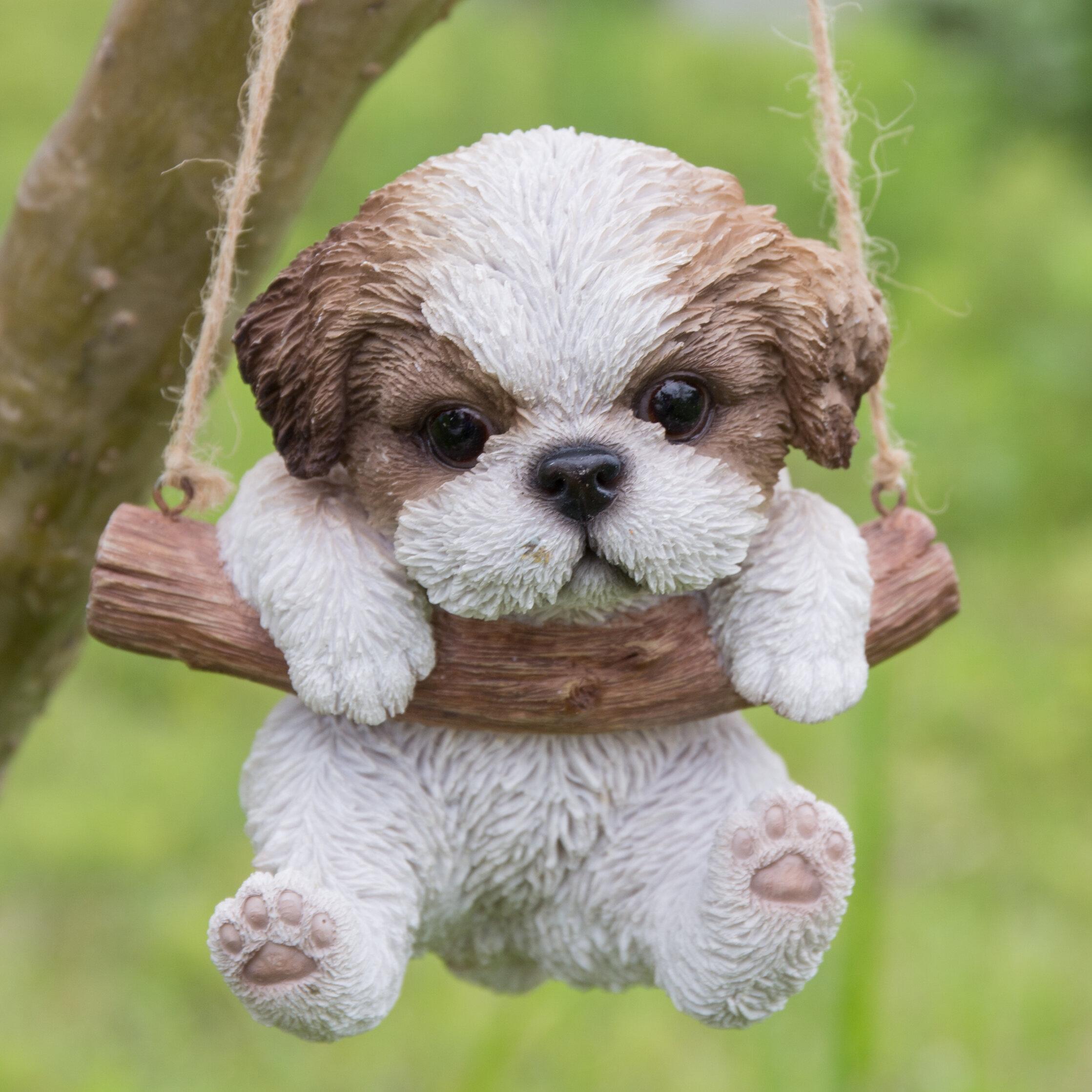 Hanging Shih Tzu Puppy Statue