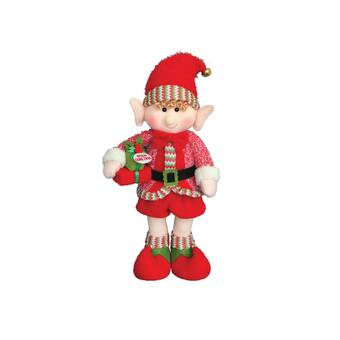 The Holiday Aisle 2 Piece Elf on a Box Stuffed Holiday