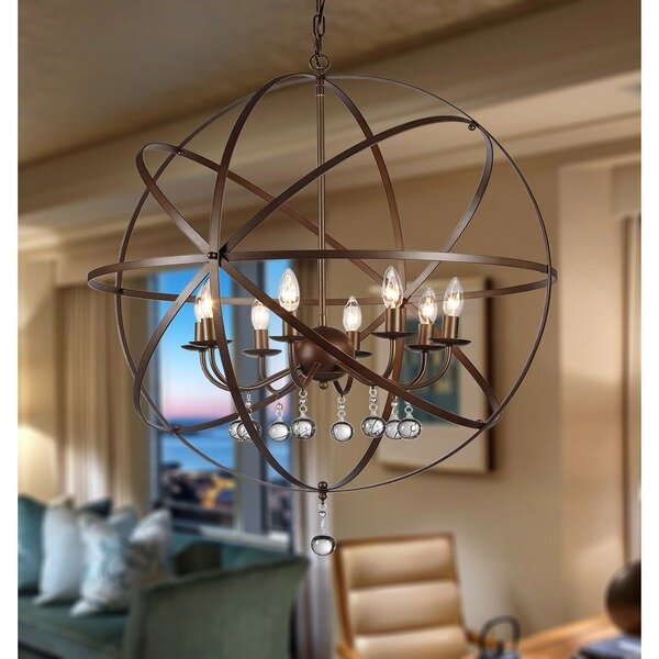 Warehouse Of Tiffany Jossie 8-Light Globe Pendant