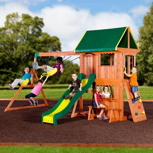 Backyard Discovery Tucson Cedar Wooden Swing Set backyard discovery swing sets you'll love | wayfair