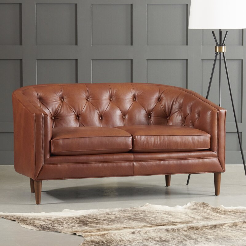 High Quality Bedford Leather Loveseat