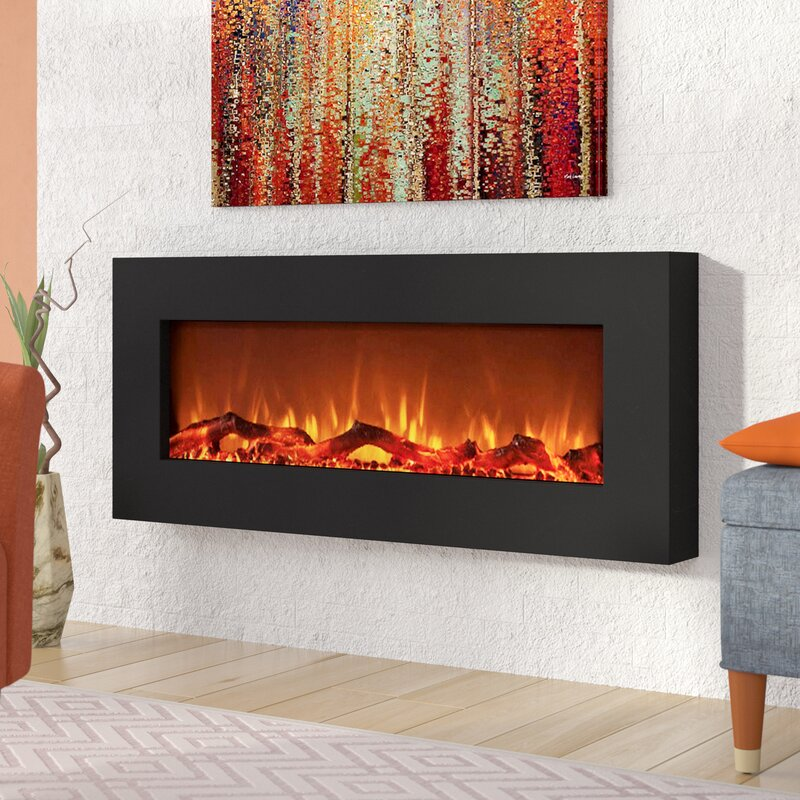 Wrought Studio Krish Wall Mounted Electric Fireplace Reviews Wayfair