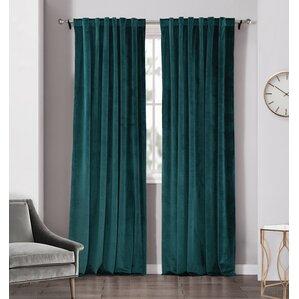 chamberlin velvet window solid room darkening rod pocket panel pair set of 2