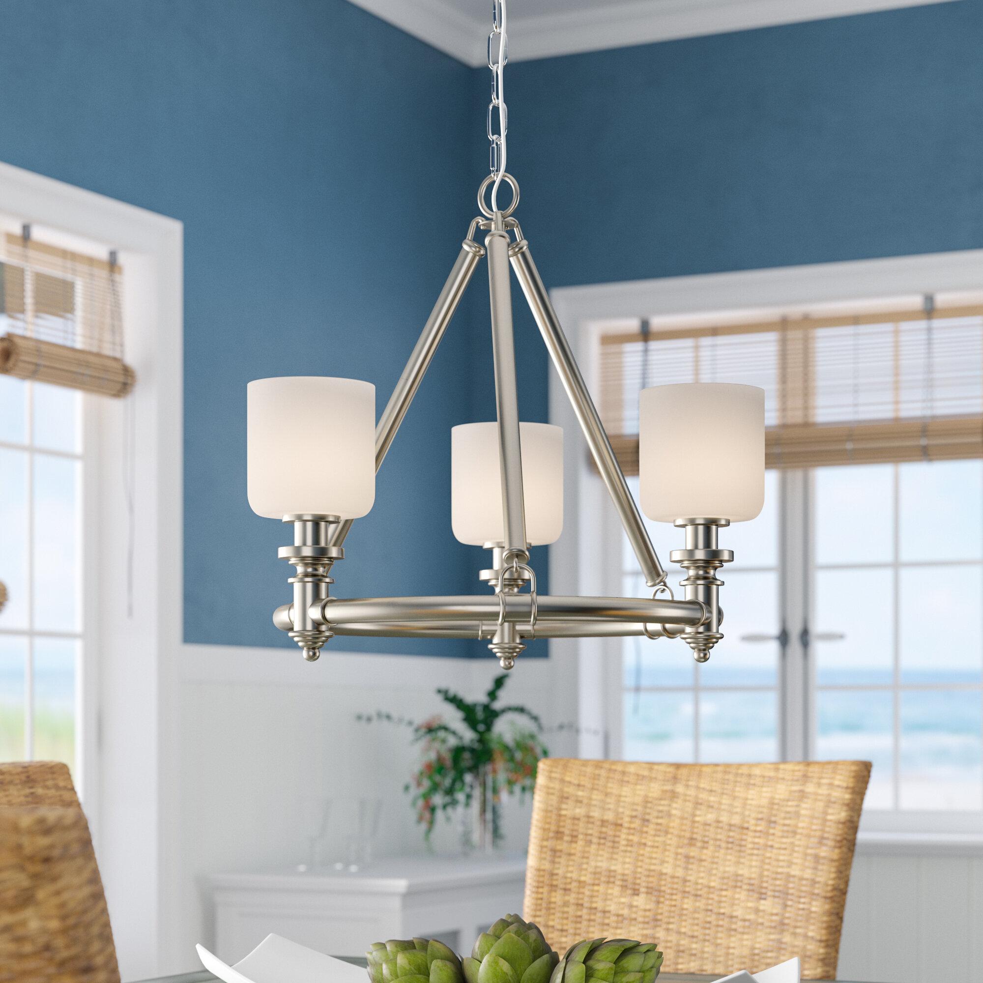 Beachcrest home mummert 3 light wagon wheel chandelier reviews wayfair