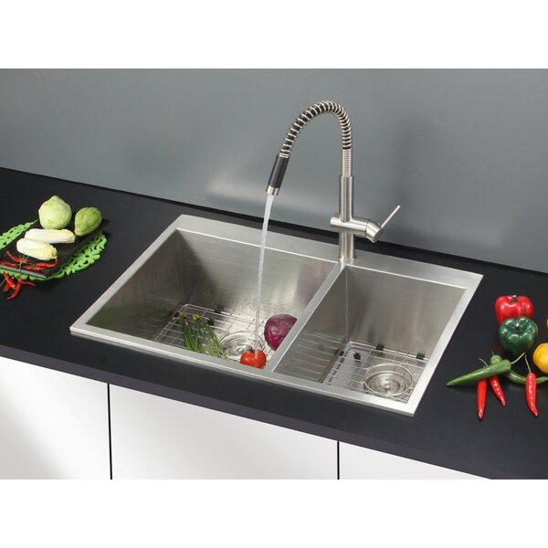 Ruvati Tirana 33 L X 22 W Double Basin Drop In Kitchen Sink