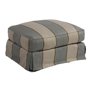 Glenhill Upholstered Slipcovered Ottoman by Rosecliff Heights