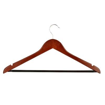 Wayfair Basics Wood Non-slip Hanger Hanger Color: Cherry