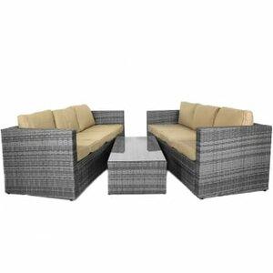 6-Sitzer Sofa-Set Algarve mit Polster von Hokku..