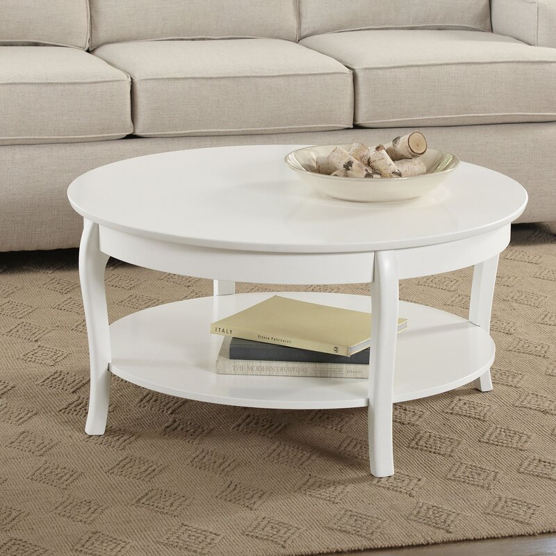 Modern Round Wooden Coffee Table 110: Birch Lane™ Alberts Round Coffee Table & Reviews