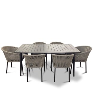 Euart Outdoor 7 Piece Dining Set With Cushions
