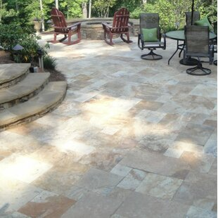 Porcini Travertine Tumbled Paver