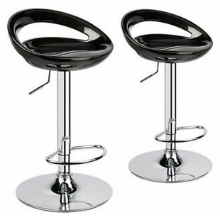 Kapono Modern ABS Hydraulic Adjustable Height Swivel Bar Stool (Set of 2)