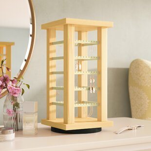 Wooden Rotating Earring Display