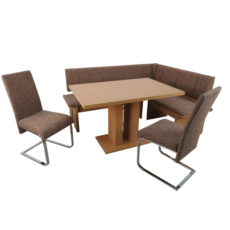 Red Barrel Studio Essgruppe Taos Mesa mit 2 Stühlen und einer ...