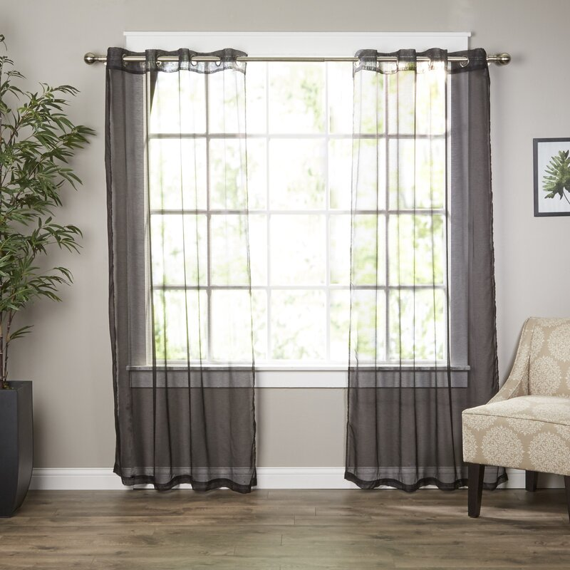 Wayfair Basics Wayfair Basics Solid Sheer Grommet Curtain