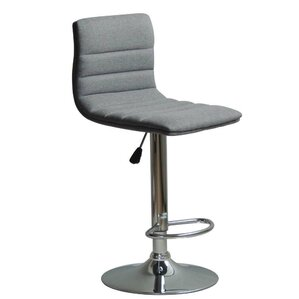 Jing Adjustable Height Swivel Bar Stool (Set of 2) by Orren Ellis
