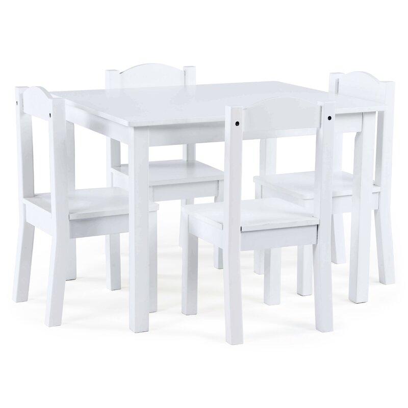 Balcom Wood Kids 5 Piece Rectangular Table And Chair Set