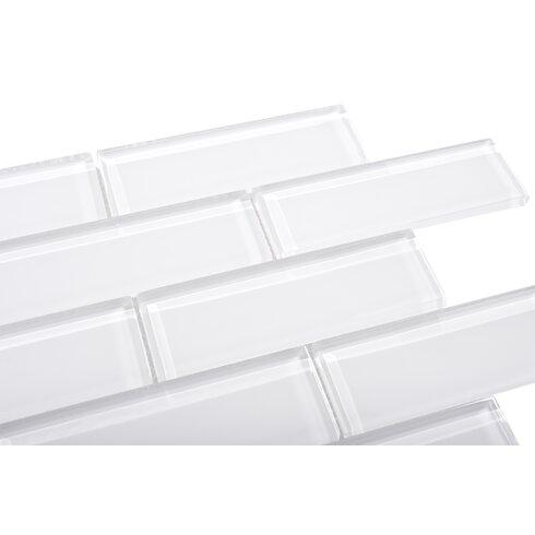 Ws Tiles Premium Series 2 X 6 Gl Subway Tile In White Wayfair