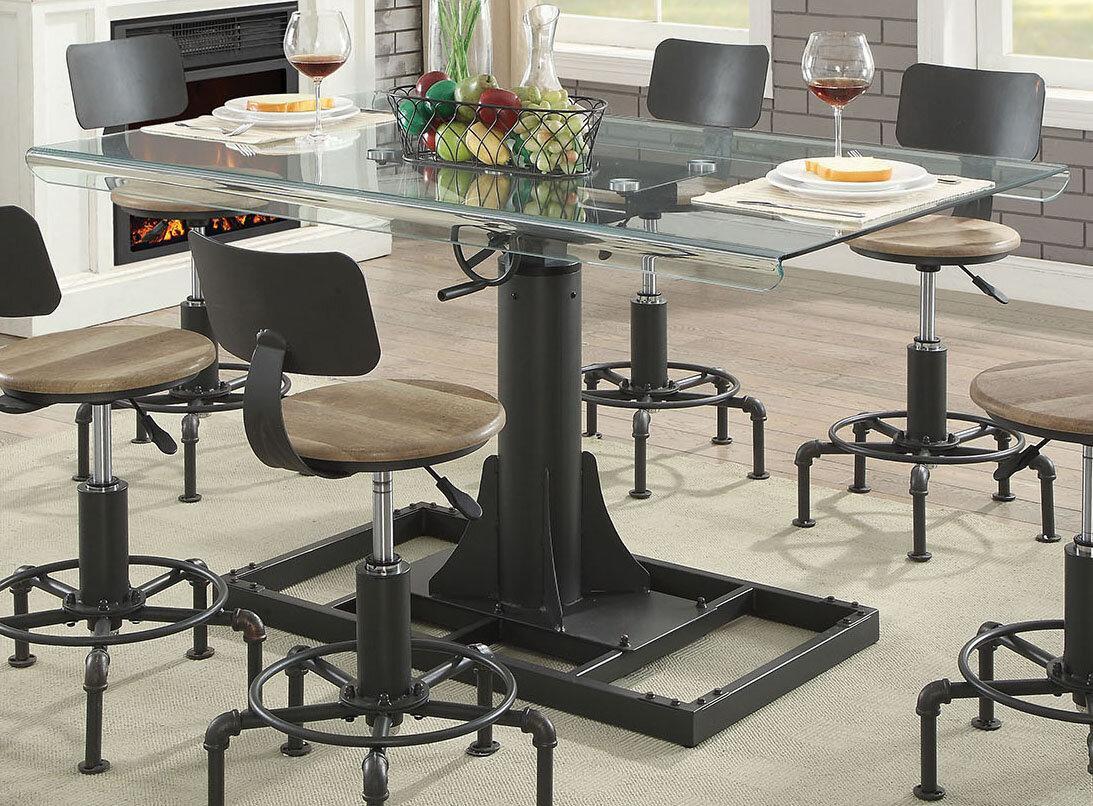 Charmant Williston Forge Gowan Industrial Glass Pub Table | Wayfair