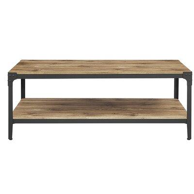 Save To Idea Board. Barnwood Arboleda Rustic Wood Coffee Table