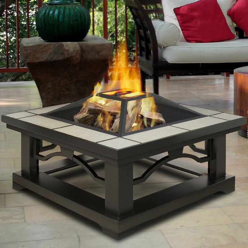 Crestone Steel Wood Burning Fire Pit Table